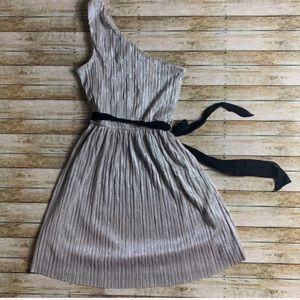 express crinkle metallic dress